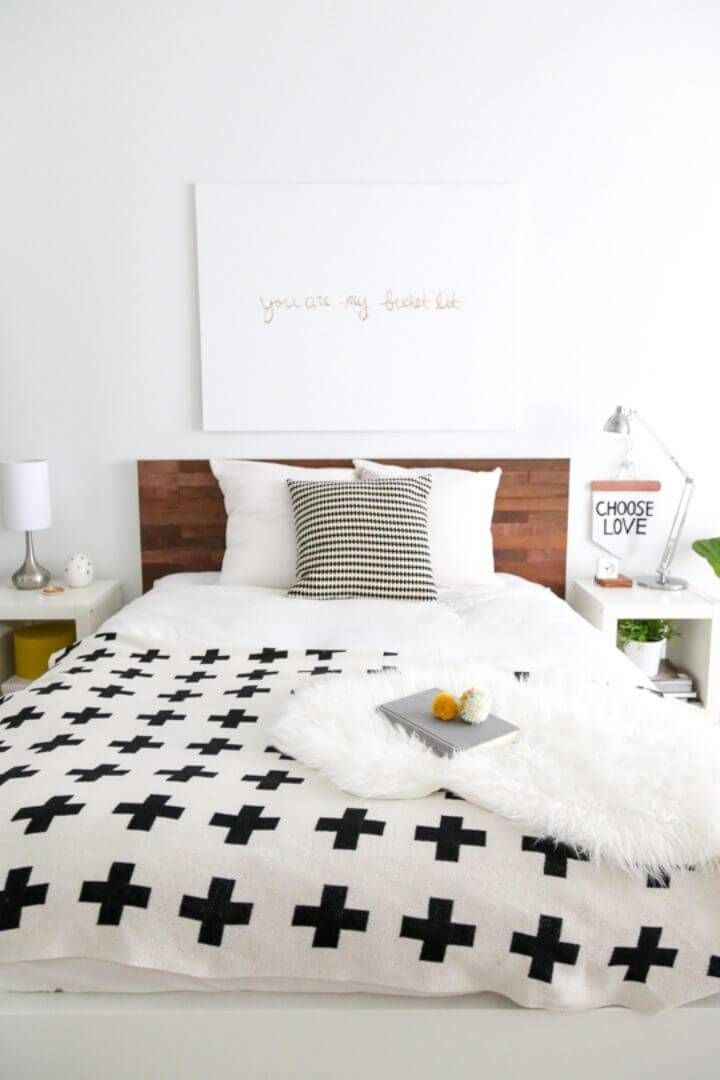 DIY Wooden Headboard With Stikwood