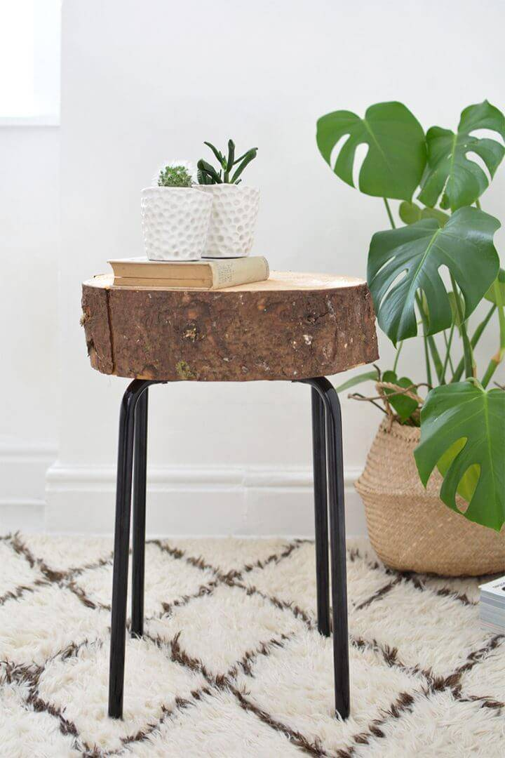 DIY Wooden Stool Ikea Hack