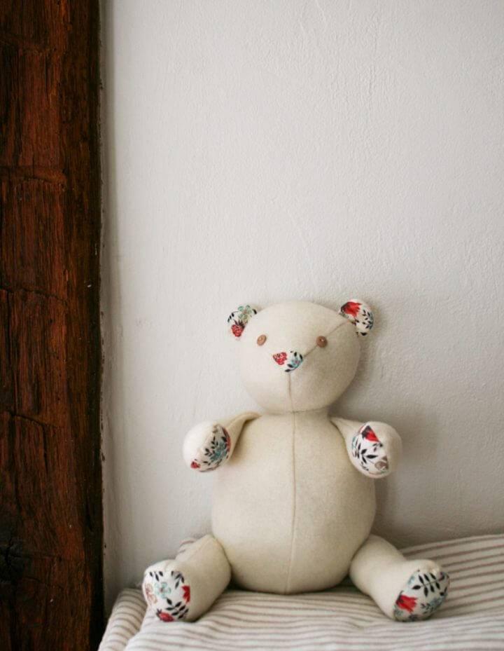 DIY Wool Liberty Teddy Bear