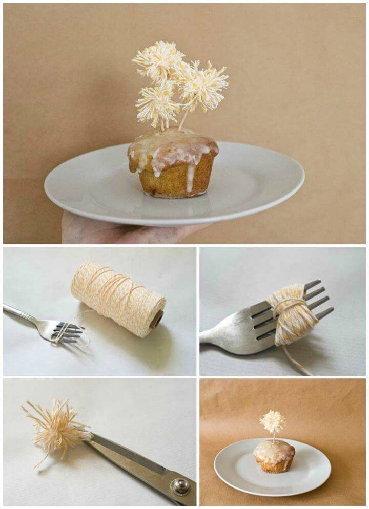 Easy DIY Pom Pom Cake Toppers
