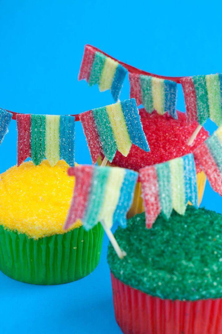 Edible Banner Cupcake Toppers
