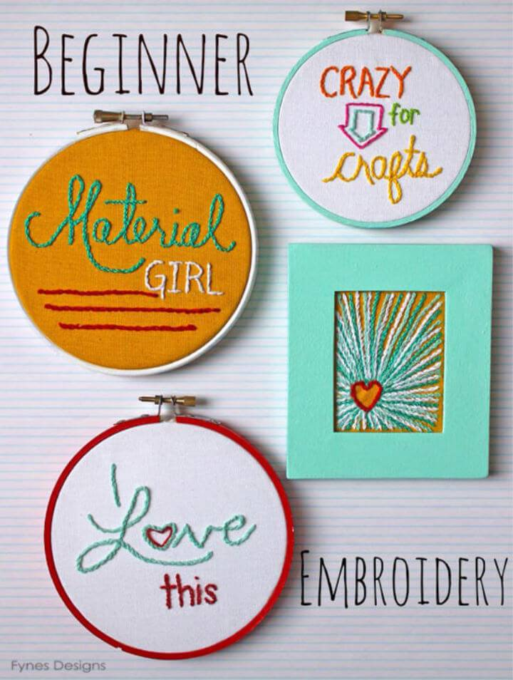 Embroidery Hoop Art for Beginners
