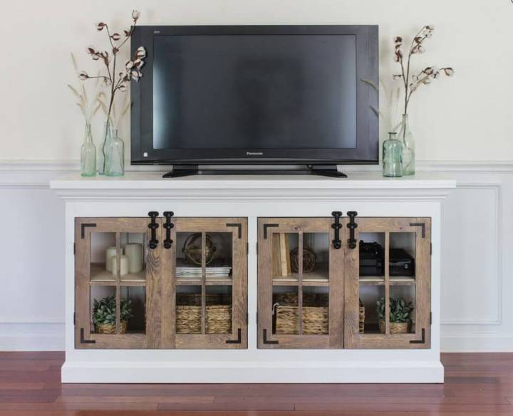 Farmhouse Style Media Cabinet