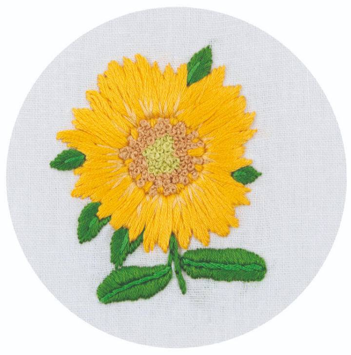Free Embroidered Sunflower Pattern