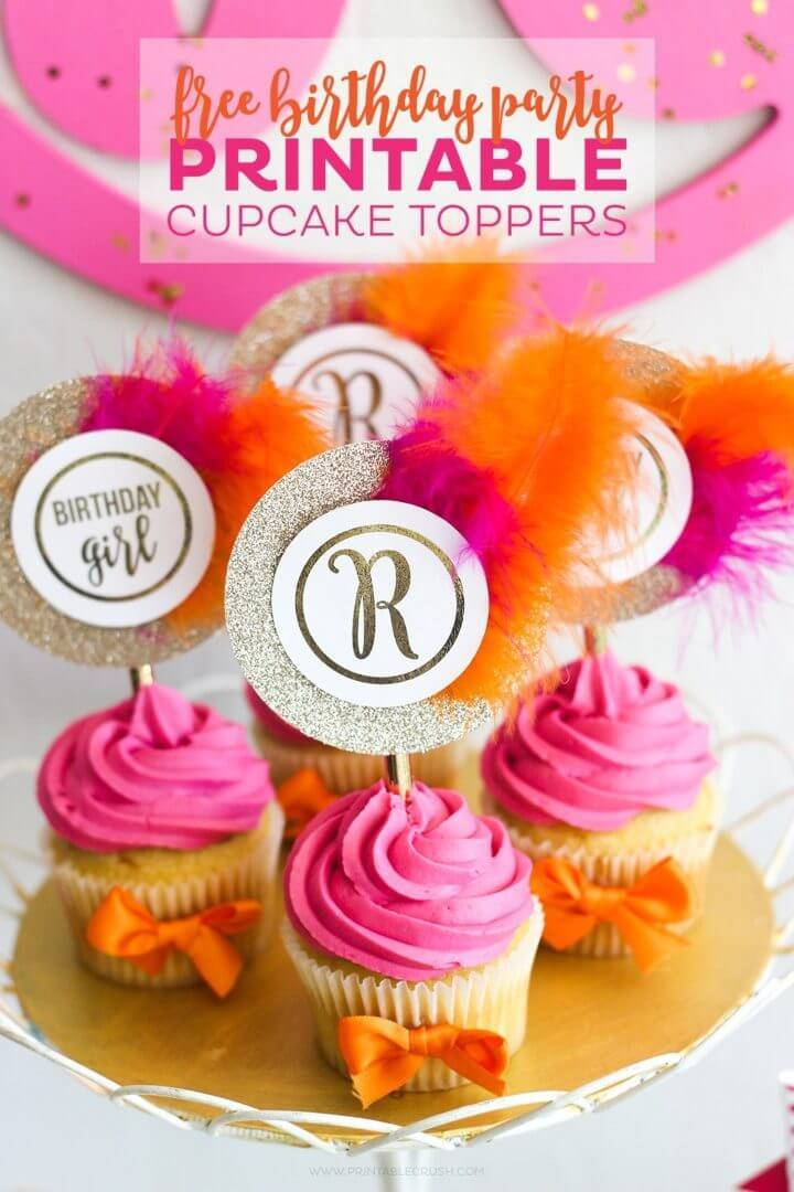 Free Monogram Printable Cupcake Toppers