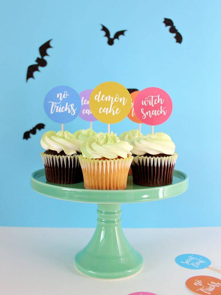 Free Printable Halloween Puns Cupcake Toppers