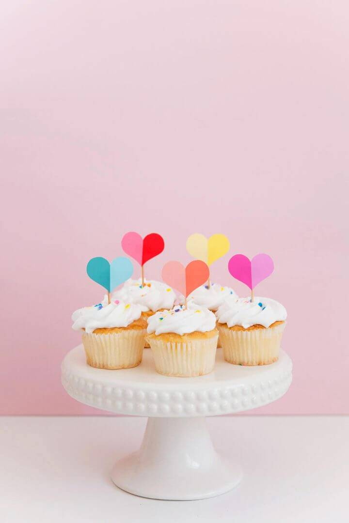 Free Printable Heart Cupcake Topper