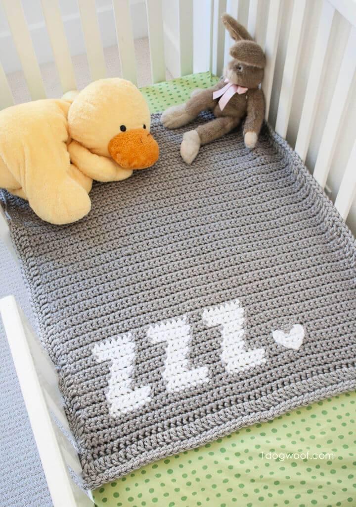 Get Some Zzz's Crochet Baby Blanket Pattern