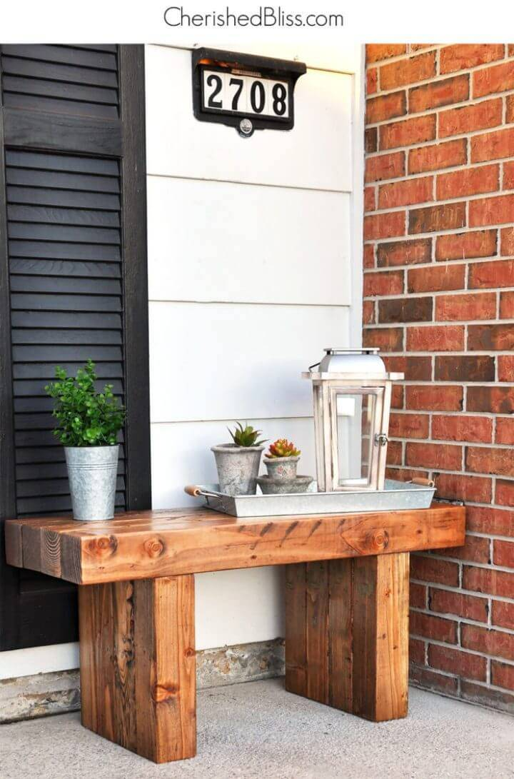 How to Build Outdoor Bench