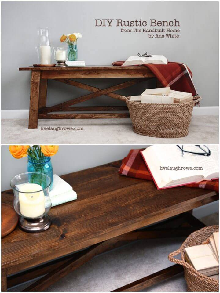 How to Build Rustic Wood Bench