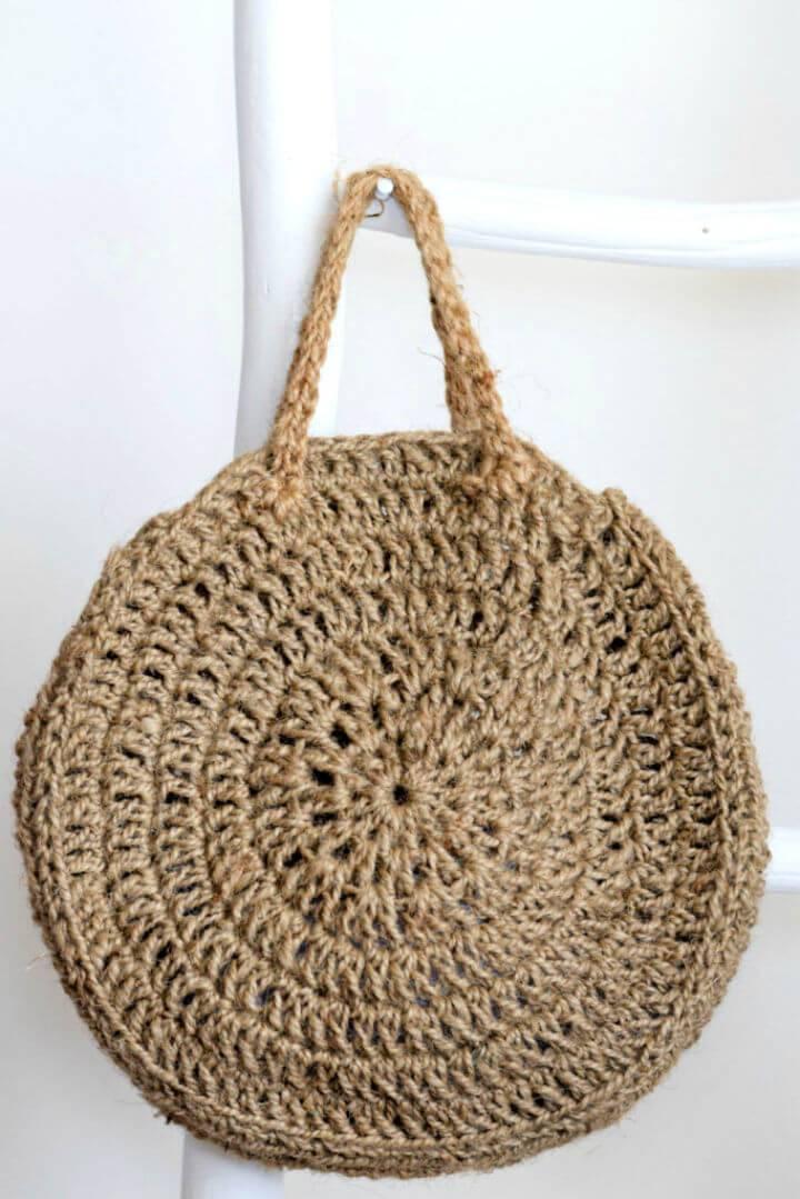 How to Crochet a Summer Circle Bag