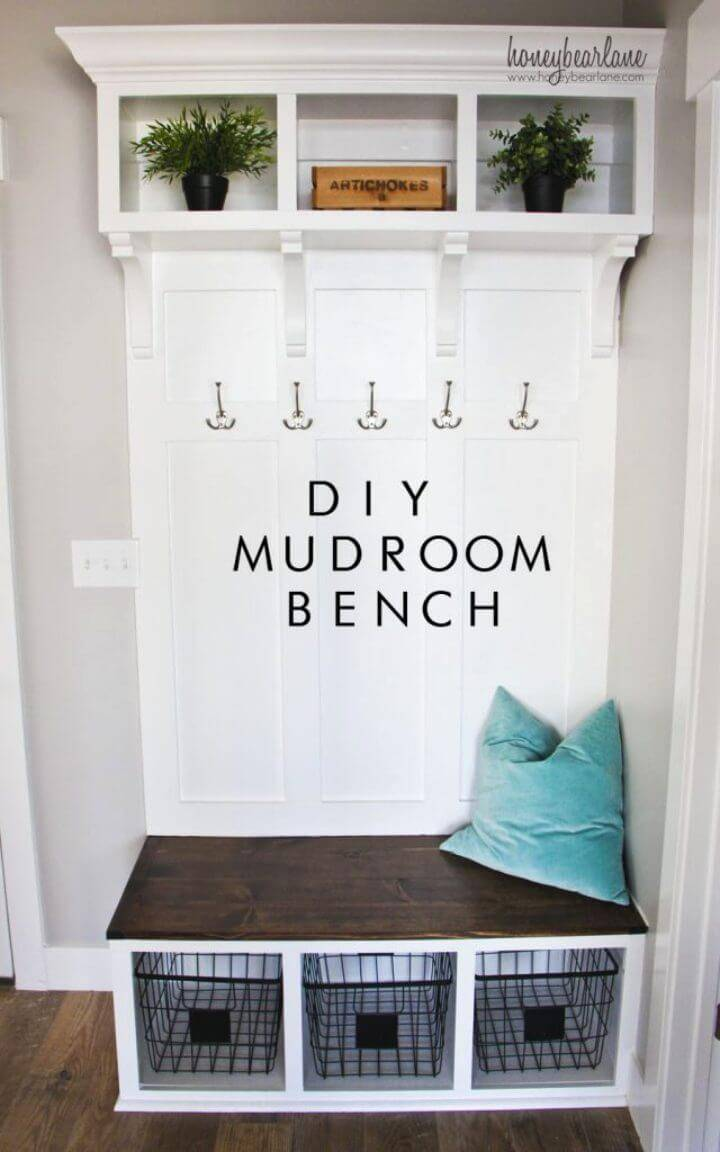 How to DIY Mudroom Bench