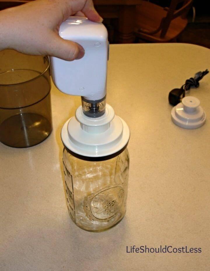 How to Make Mason Jar Vacuum Sealer