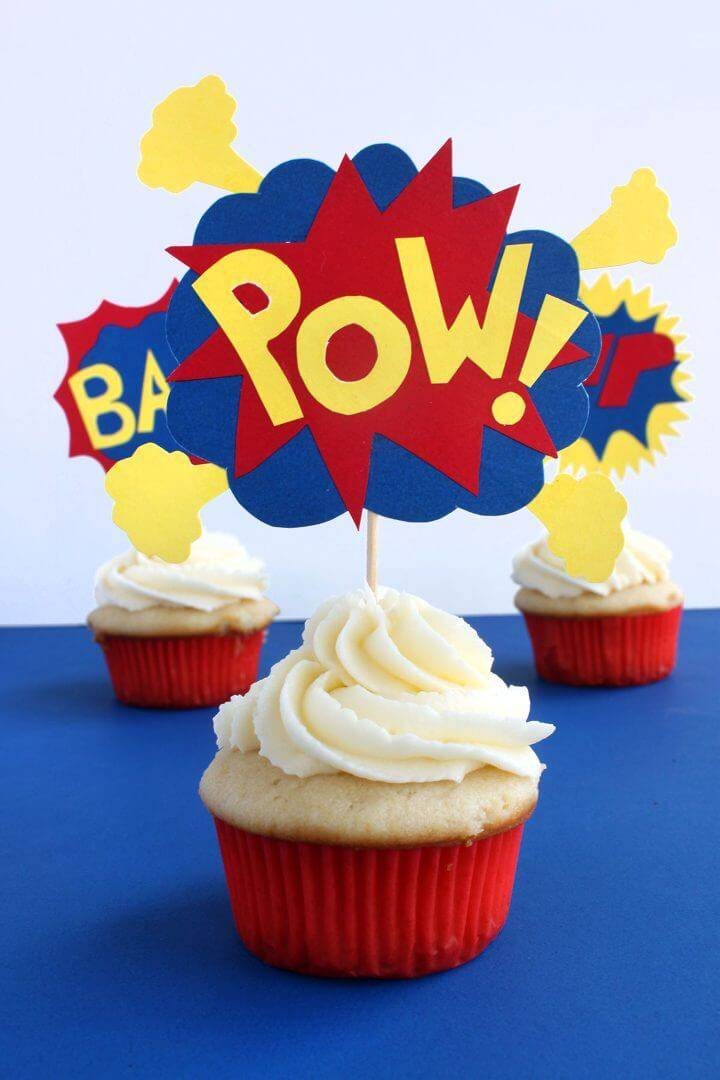 How to Make Pow Cupcake Toppers