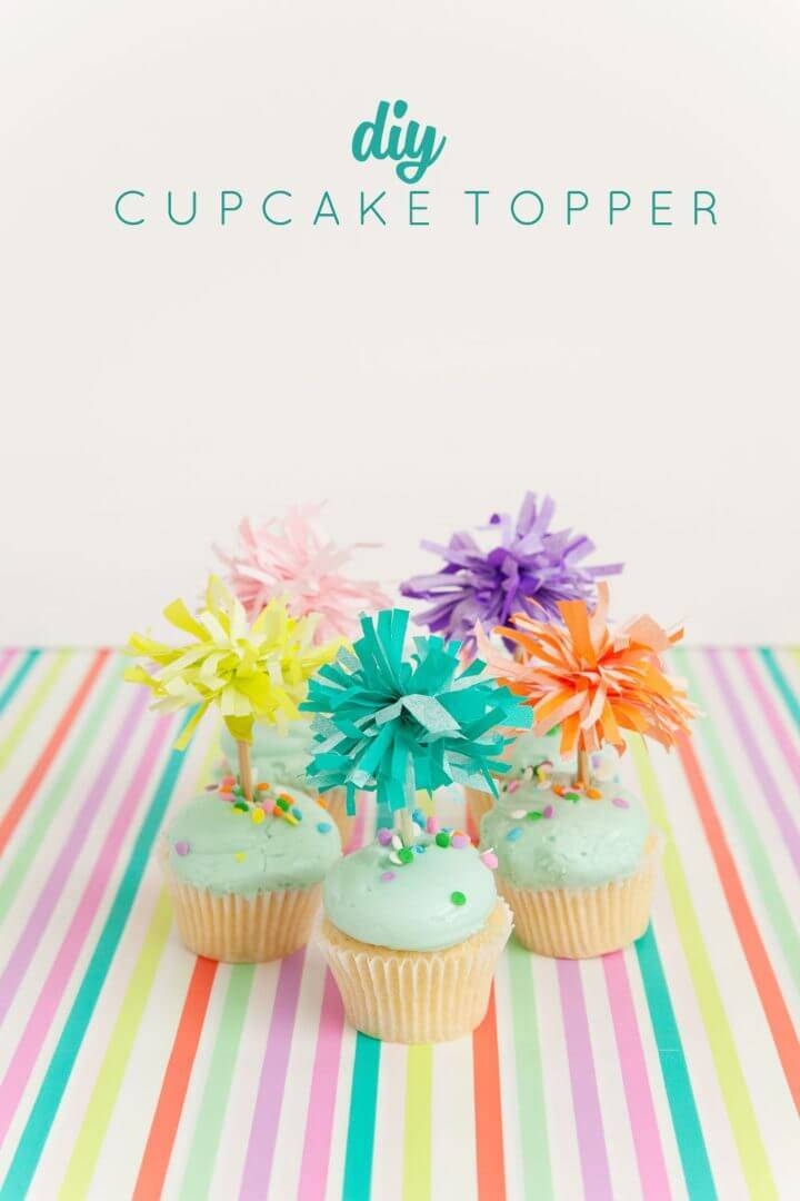 How to Make Tissue Paper Cupcake Toppers