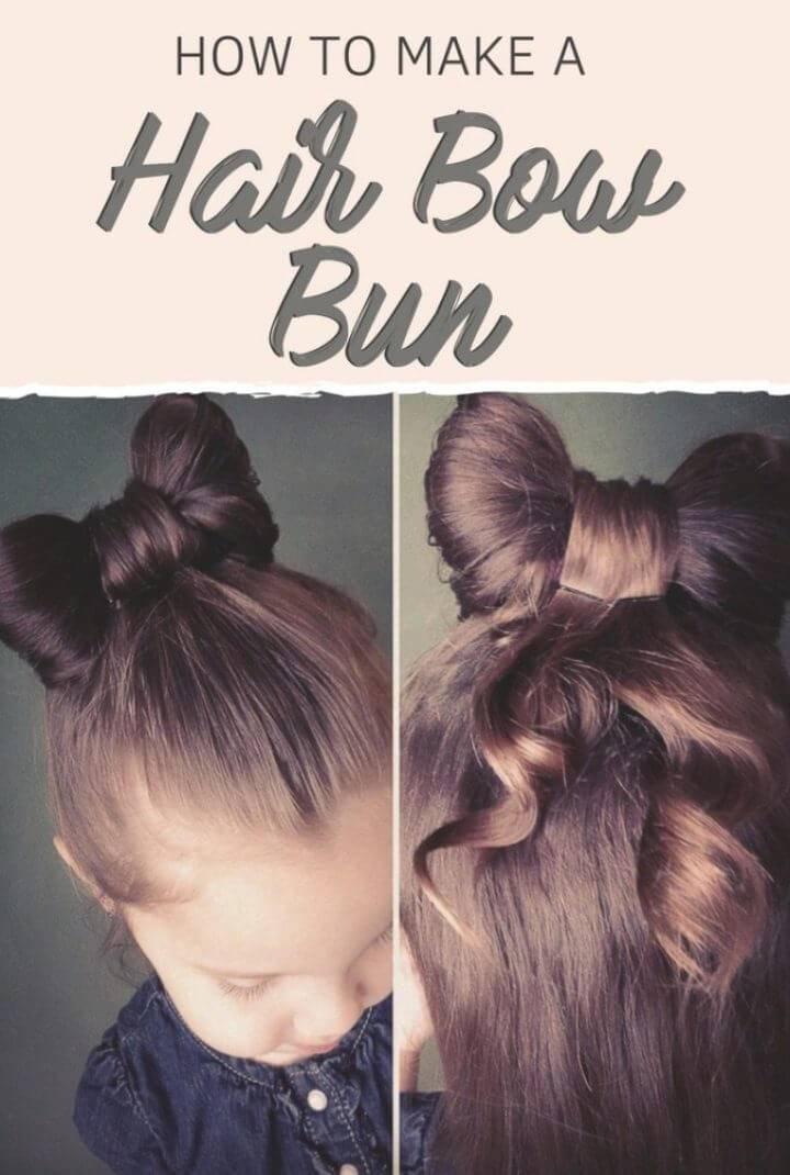 How to Make a Hair Bow Bun