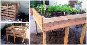 How to Make a Pallet Garden Bed