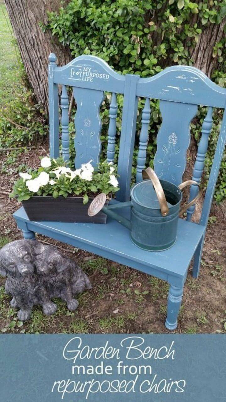 How to Turn Chairs Into Garden Bench
