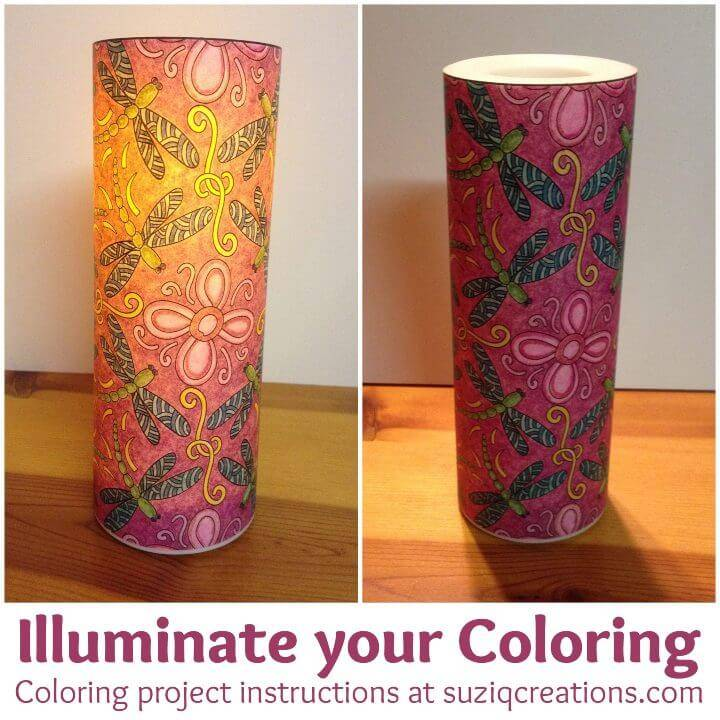 Illuminate Your Coloring Pages Craft Project