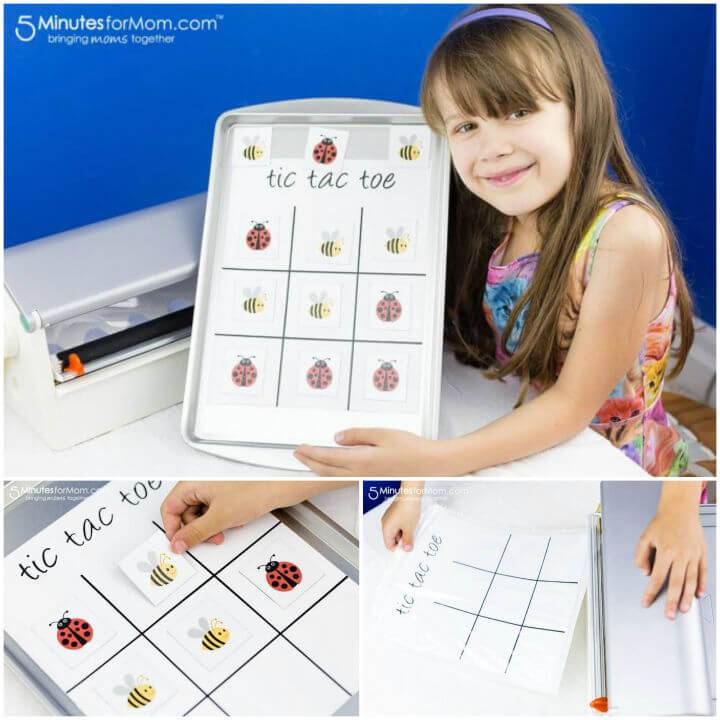 Magnetic Tic Tac Toe Board for Kids