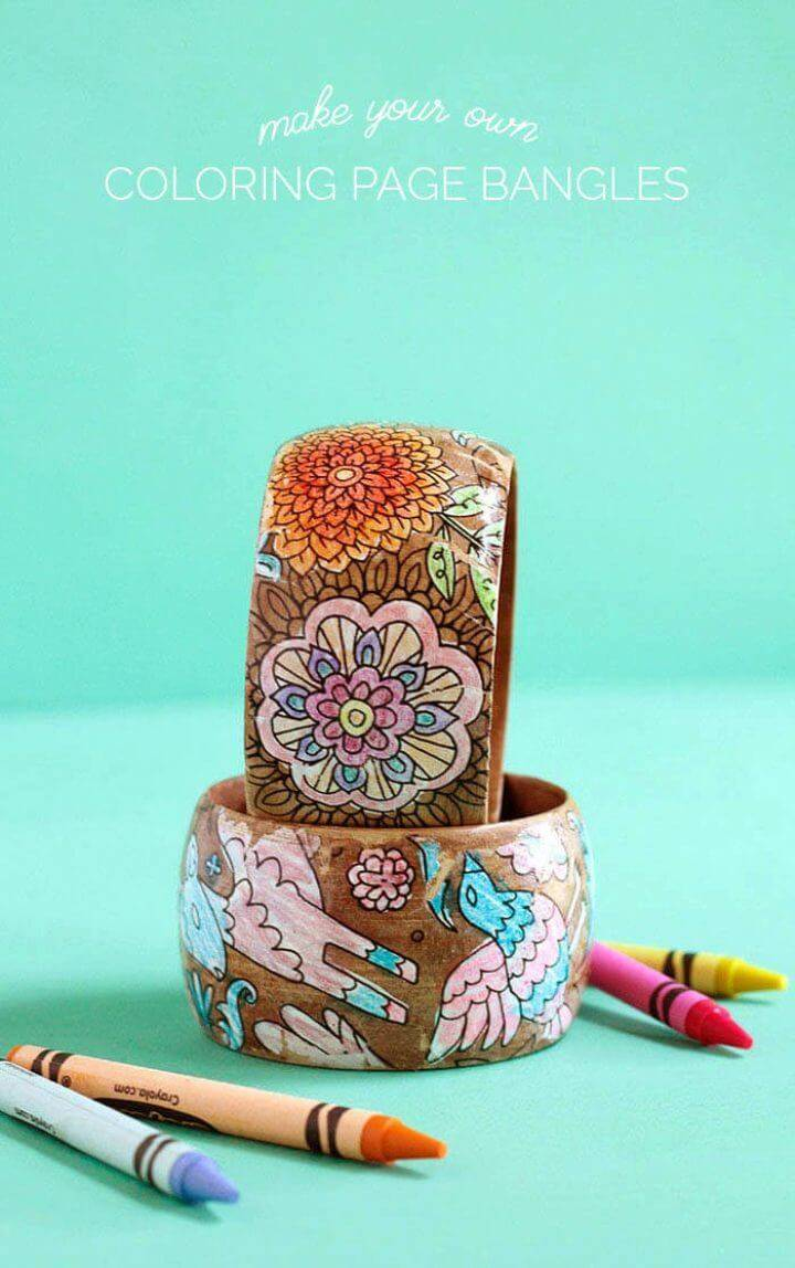 Make Mother's Day Bracelets Using Coloring Pages