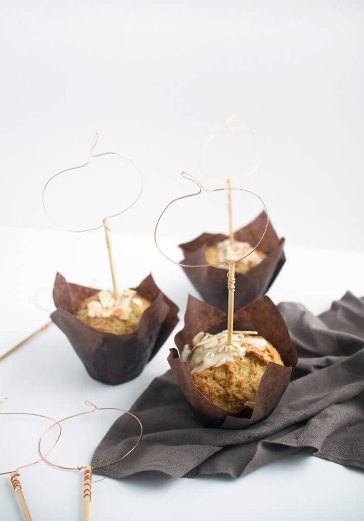 Make Wire Pumpkin Cupcake Toppers