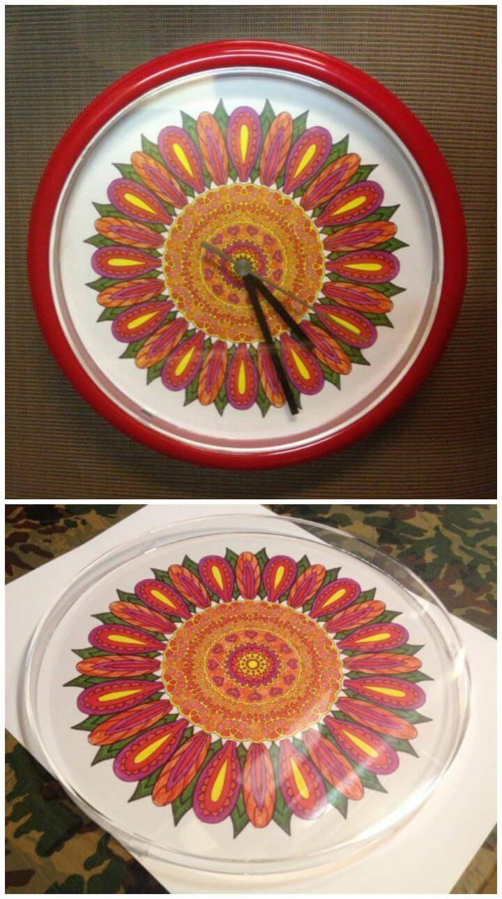 Make a Keepsake Clock with Your Colored Pages