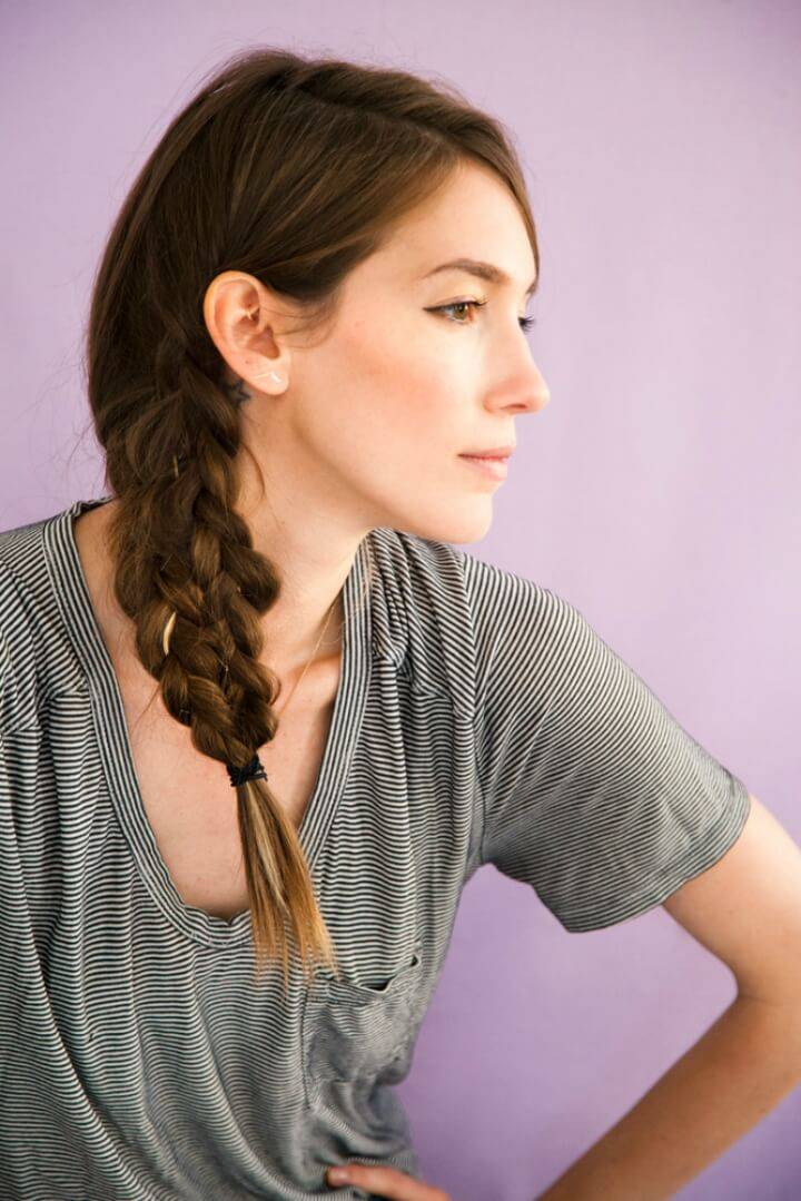 Mermaid Tail Braid Hairstyle 1