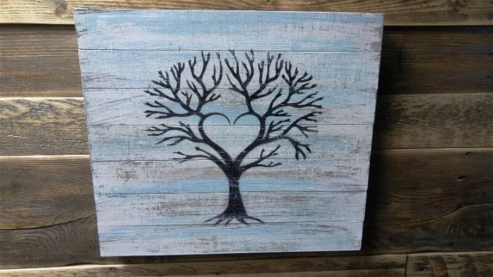 Pallet Wall Art A Tree Art