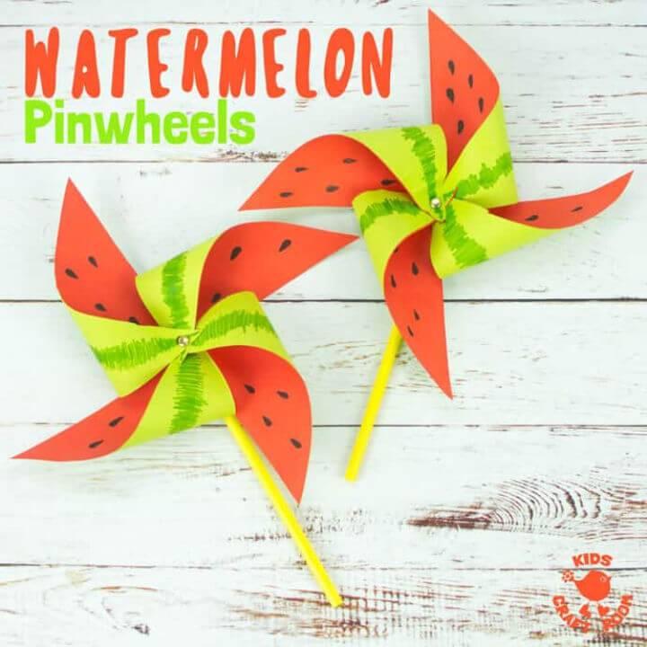 Quick DIY Watermelon Pinwheel Craft