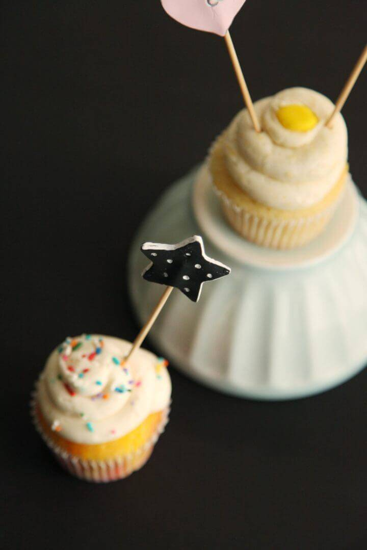 Simple DIY Clay Cupcake Toppers
