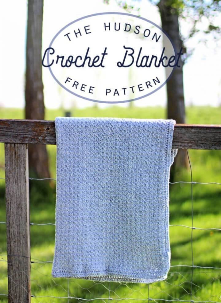 The Hudson Crochet Baby Blanket Pattern