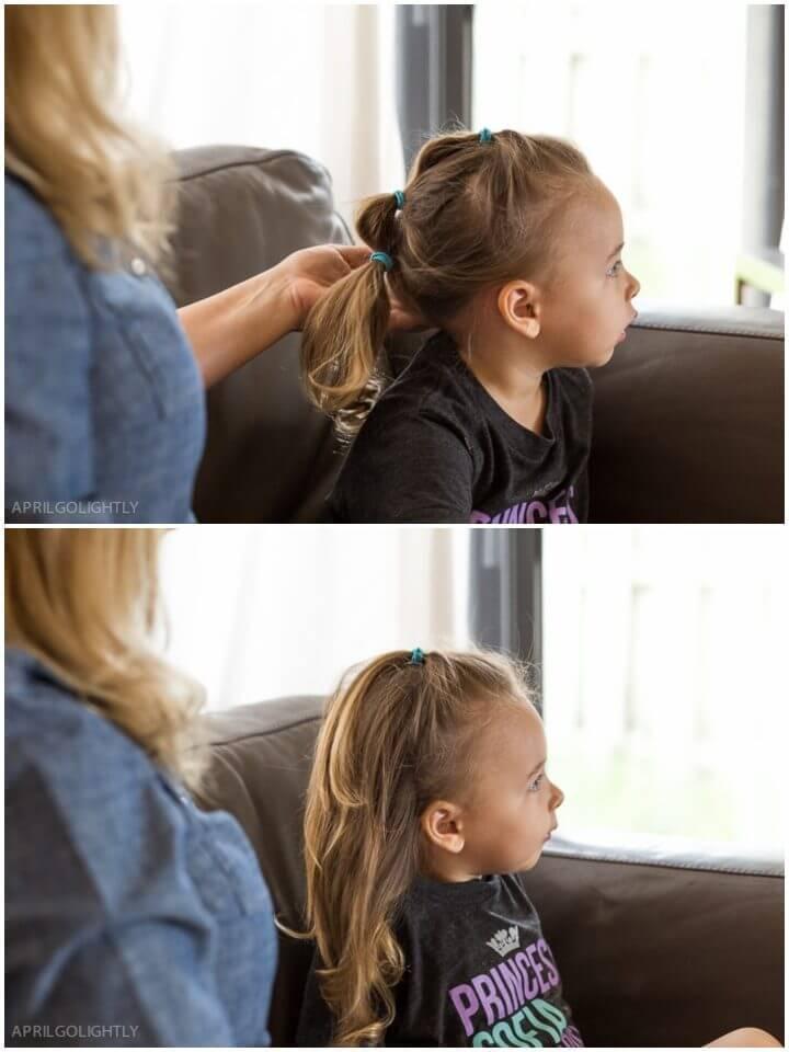 Three ring Ponytail Toddler Hairstyle