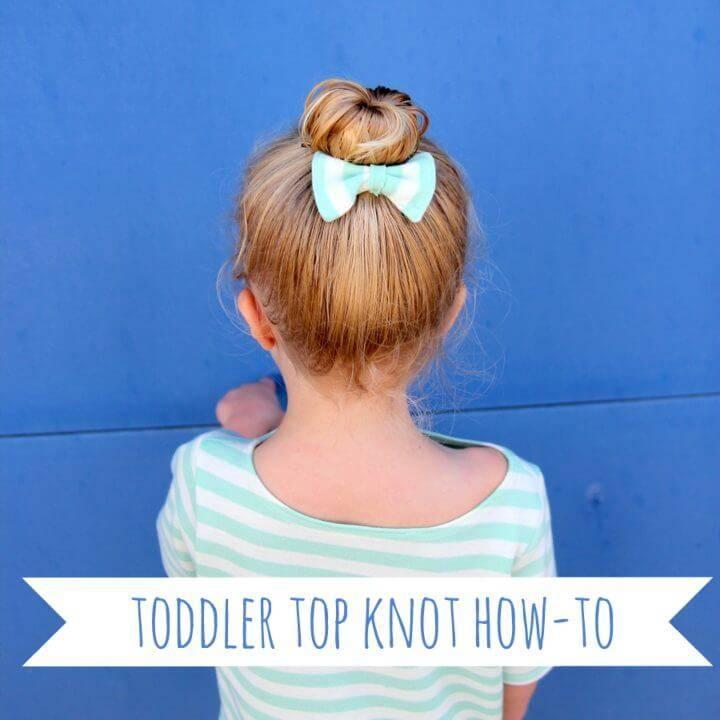Toddler Top Knot Hair