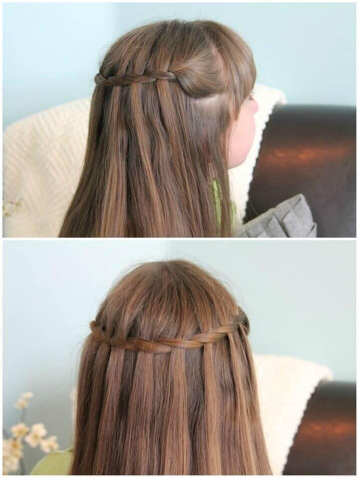 Waterfall Twist Teen Hairstyle