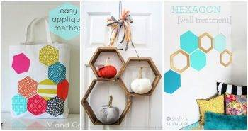 20 DIY Hexagon Projects hexagon sewing projects projects for hexies diy hexagon shelves 2