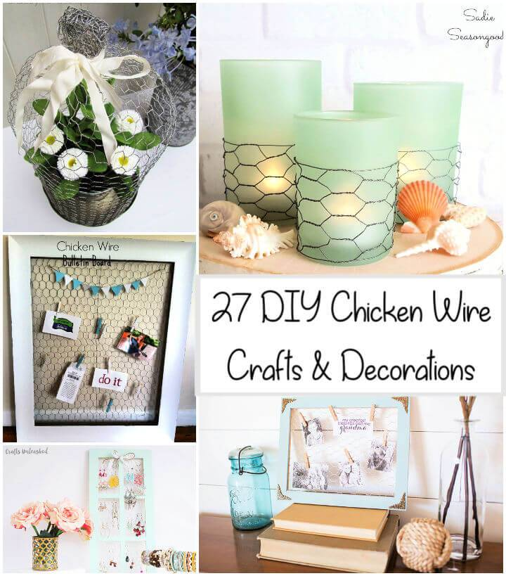 27 Unique DIY Chicken Wire Crafts and Decorations