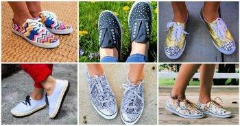 31 Easy DIY Sneakers Makeover Ideas – DIY Fashion diy shoes paint diy galaxy shoes diy glitter shoes diy boots makeover 1