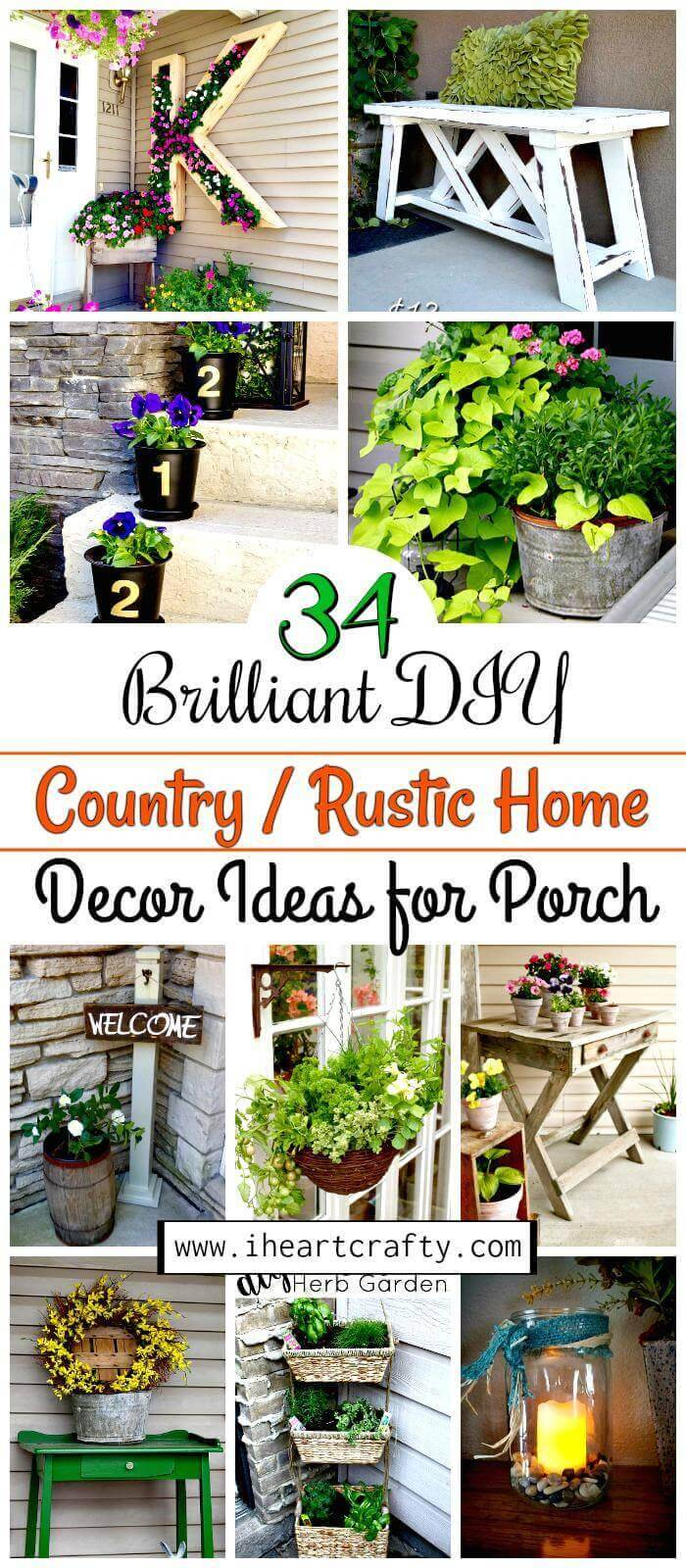 DIY Rustic Home Decor Ideas /DIY Country Home Decor Ideas