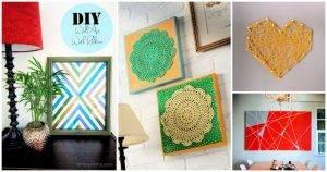 82 Cheap DIY Ways to Make Wall Art For Your Home Decor DIY Ideas