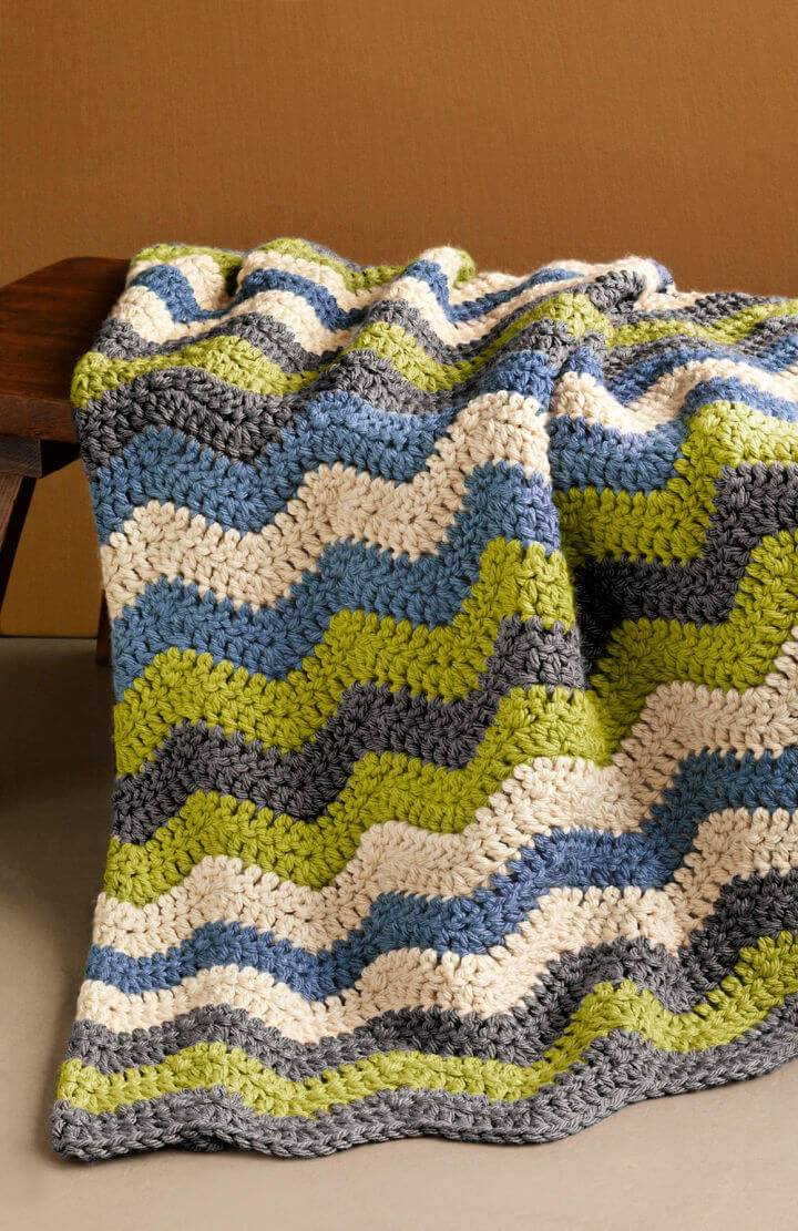 Adorable Shaded Ripple Afghan Free Crochet Pattern
