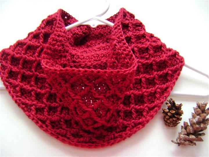 Awesome Crochet Diamond Cowl Free Pattern