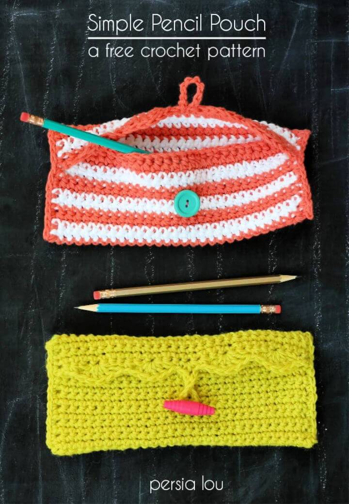 Awesome Crochet Pencil Pouch Free Pattern