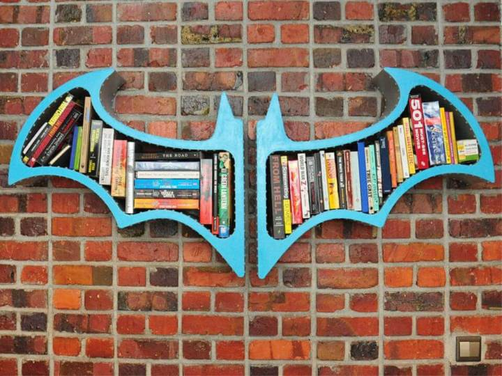Batman Bookshelf on a Budget