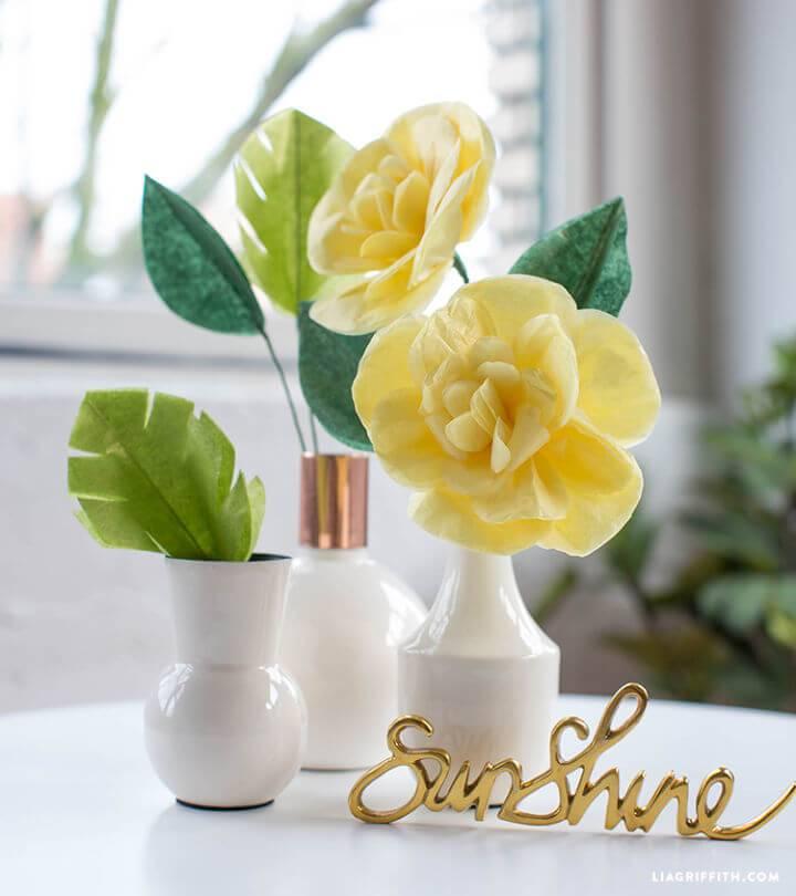 Beautiful DIY Tissue Paper Cajun Hibiscus Flower