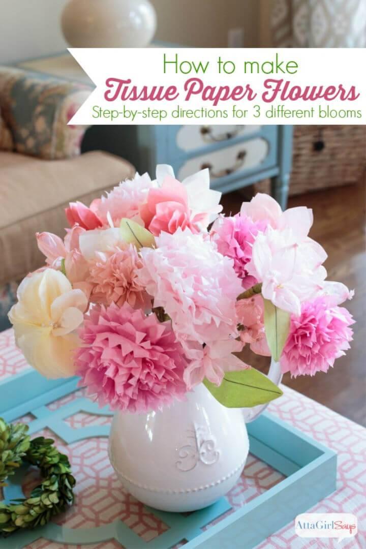 Beautiful DIY Tissue Paper Flowers