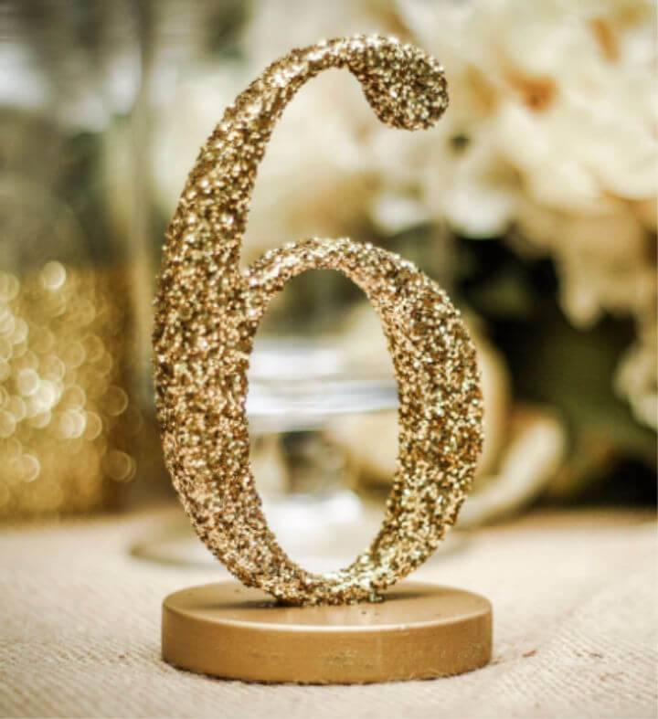 Beautiful Glitter Table Number