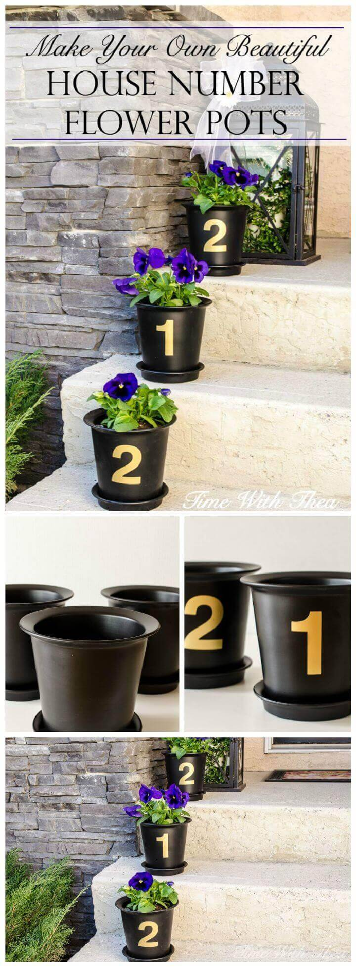 Beautiful House Number Flower Pots