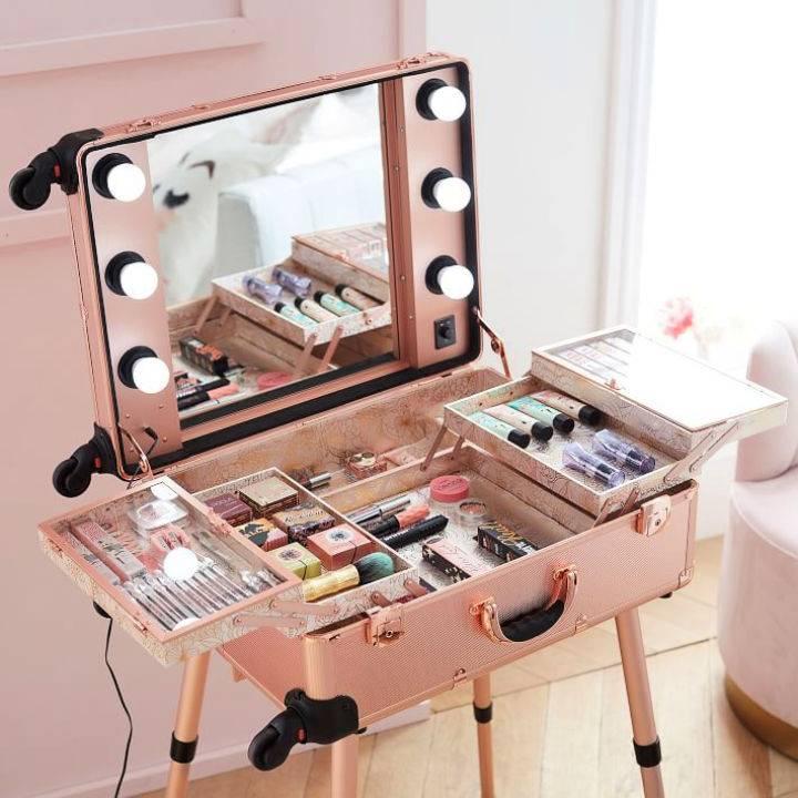 Briefcase Makeup Vanity