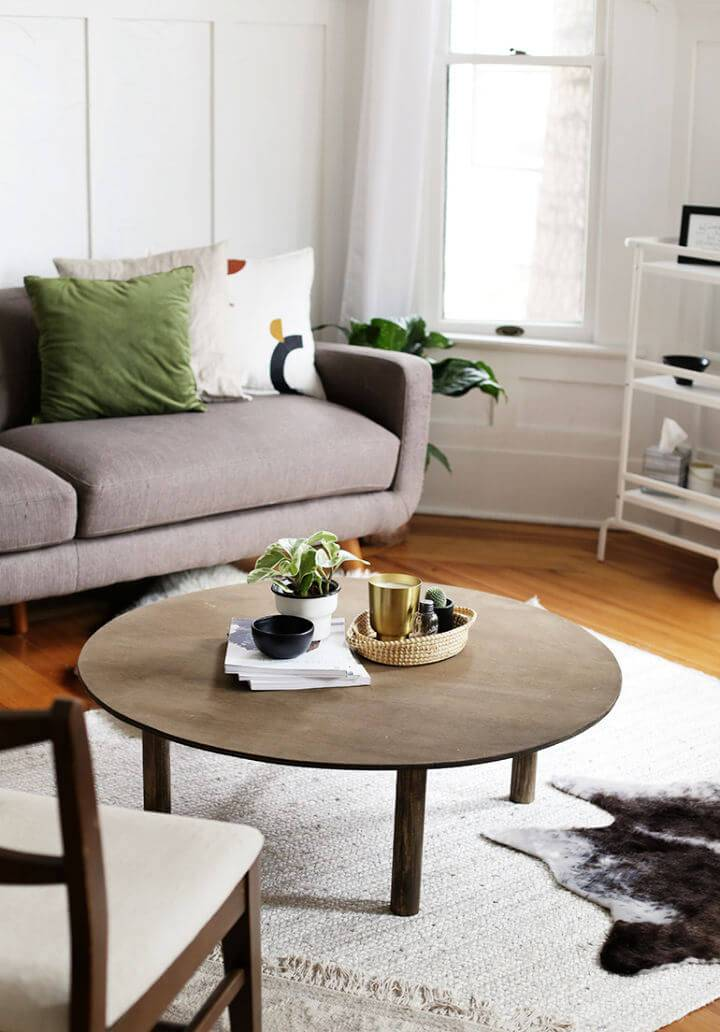 Build Your Own Round Coffee Table